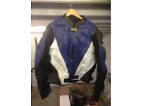 MENS LEATHER BIKE JACKET X LEATHER JEANS SIZE 5 XL
