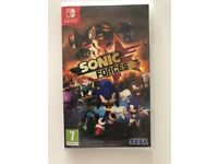 Sonic Forces for Nintento Switch with boxes and manuals