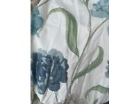Blue & teal flower pattern curtain FREE