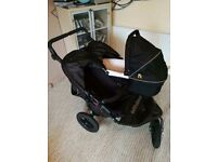Double buggy with carrycot