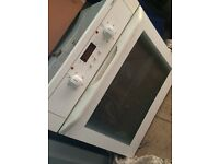 Electric fitted cooker , white