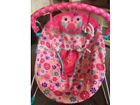 Bright starts pink baby bouncer chair