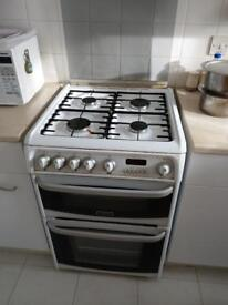 White gas cooker with grill & oven on clearance at just £55 Only!!