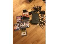 Sony PS2 2 wireless sing star mics 2 wired controller 5 games memory card