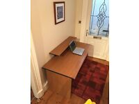 Large wooden desk & computer chair