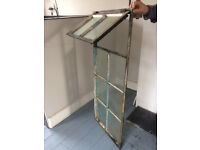 Crittall Steel Frame Window with eight glass panels