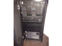 IBM HP BCH BladeCenter H Blade Server Chassis Plus UPS, Power Pack and Cabinet