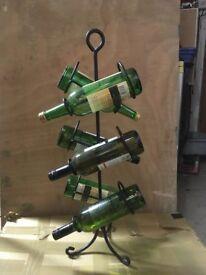 Wine rack bottle holder black Iron