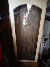 Display Cupboard with leaded bevelled glass door
