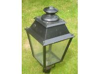 Victorian style street lamp top.