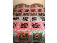 Hand Crafted Patchwork Quilt.