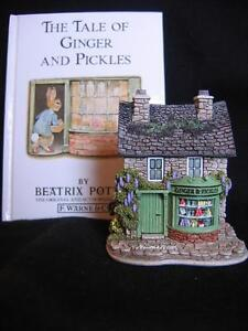 "LILLIPUT LANE BEATRIX POTTER ""GINGER AND PICKLES SHOP"" WITH BOOK"