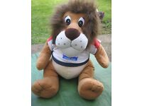 Large England Lion Football Mascot Soft Toy