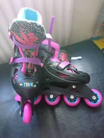 Disney Tinkerbell Rollerblades Size 3