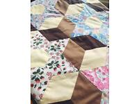 Huge hand sewn patchwork throw