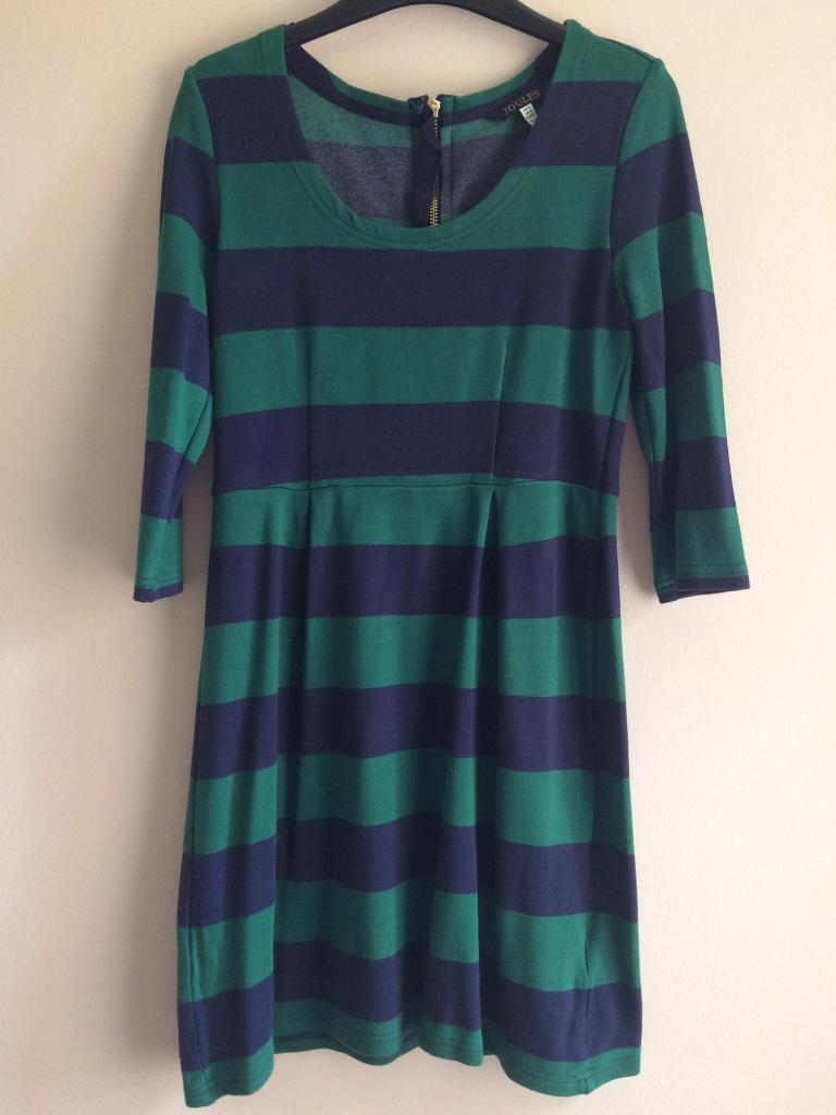 Joules striped dress size 6