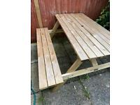 Picnic table bench wooden