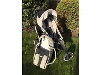 Phil and Teds Sport double buggy with baby cocoon