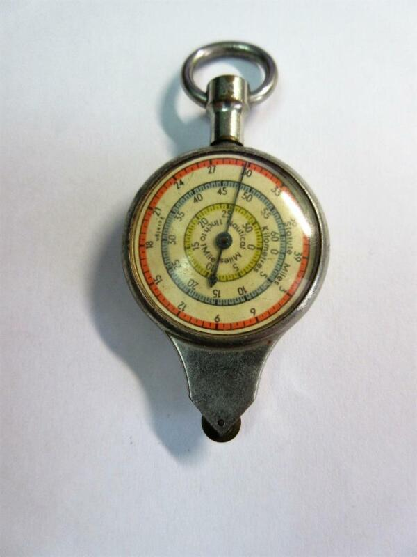 Vintage GERMAN DOUBLE SIDED NAUTICAL MAP MEASURER!