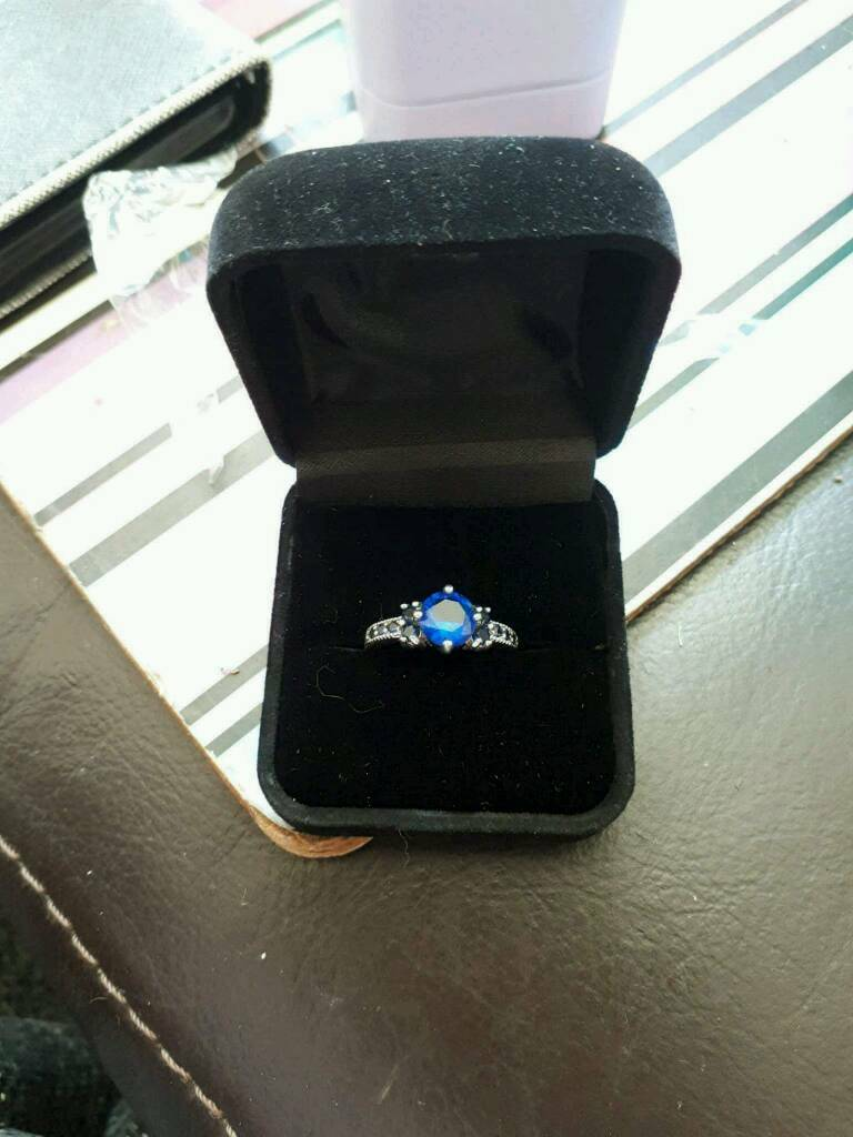 Sapphire sterling silver gold plated ring