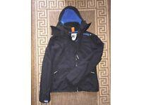 Superdry Original Windcheater Women Ladies Hooded Jacket Size M Black