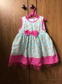 Ice cream summer dress - age 9-12 months