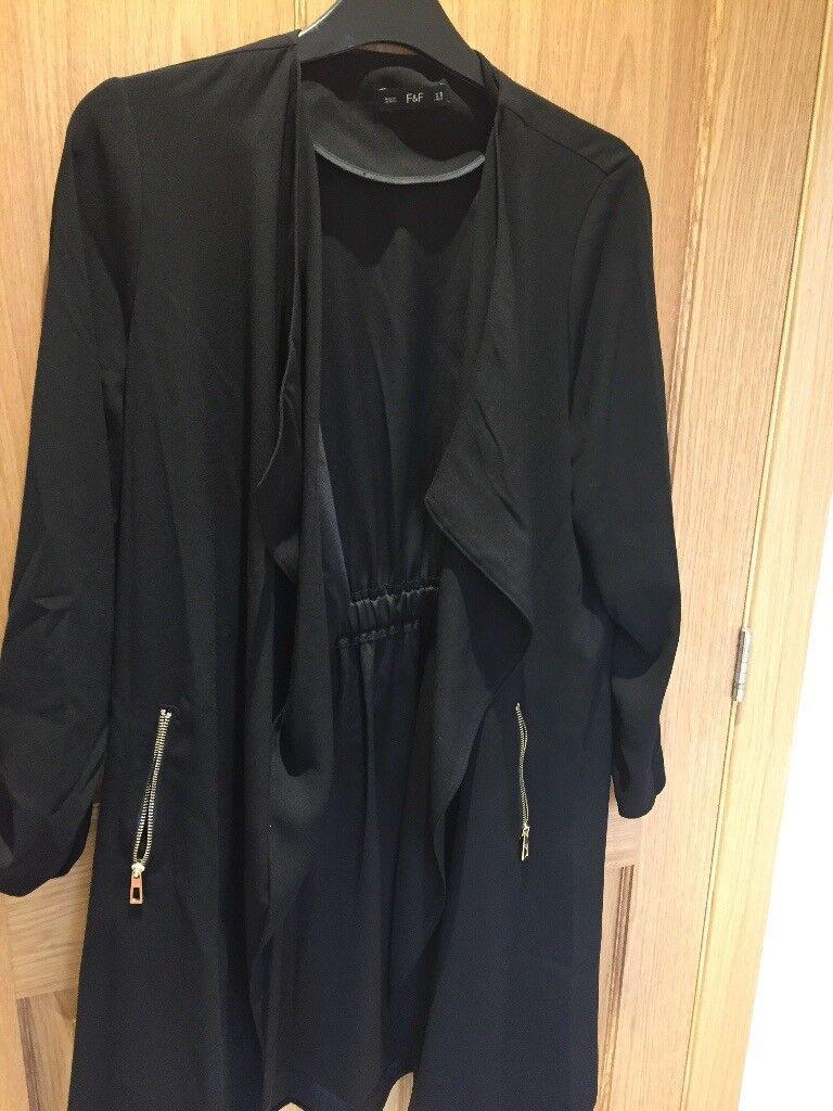 Black 3/4 length ladies jacket