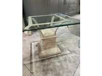 Beautiful glass and stone side table