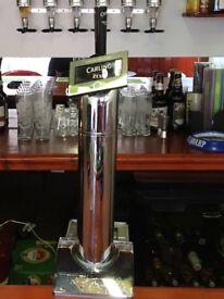 Carling zest beer pump
