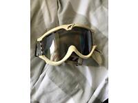 White ski goggles