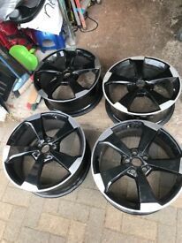 4 audi rs3 genuine rotar alloys immaculate condition