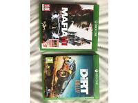 XBOX ONE GAMES. MAFIA 3 + DIRT RALLY