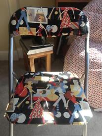 Chair with Alexander Henry fabric