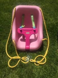 Little Tikes pink toddler swing