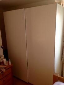 Wardrobe with 2 Sliding doors on rails - Ice White