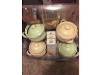Terracotta serving pots