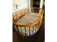 Stokee Sleepi cot and Mini Crib Kit With CoolMax Mattress And Canopy Arm