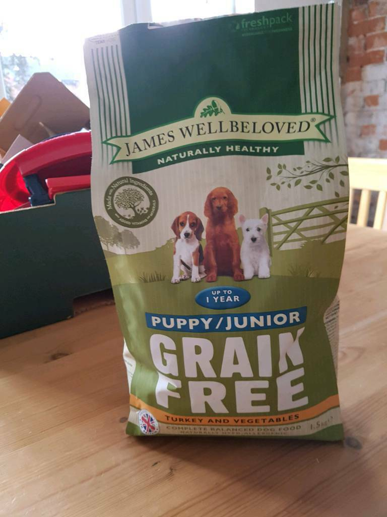 James Wellbeloved Puppy Dry Food / Kibble. Grain free turkey & vegetables
