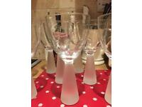 10 immaculate wine glasses