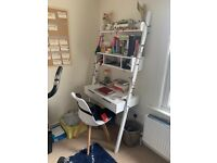 £40 desk with shelving PICK UP ONLY