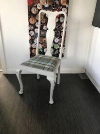 8 x Shabby Chic Light Grey Dining Chairs
