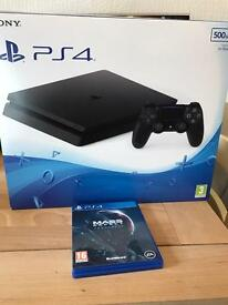 Latest PS4 slim 500GB + mass effect with warranty and receipt