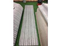 Silver stripe carpet runners