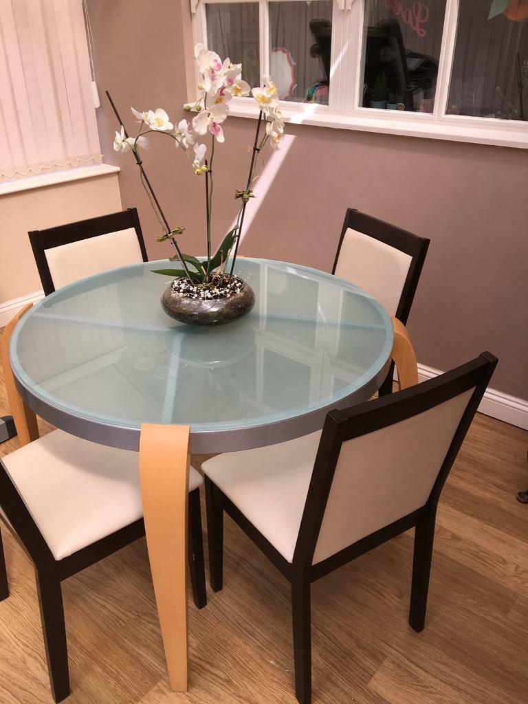 Glass top kitchen table with chairs   in Selby, North ...
