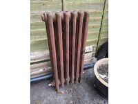 Reclaimed 6 column cast iron radiator