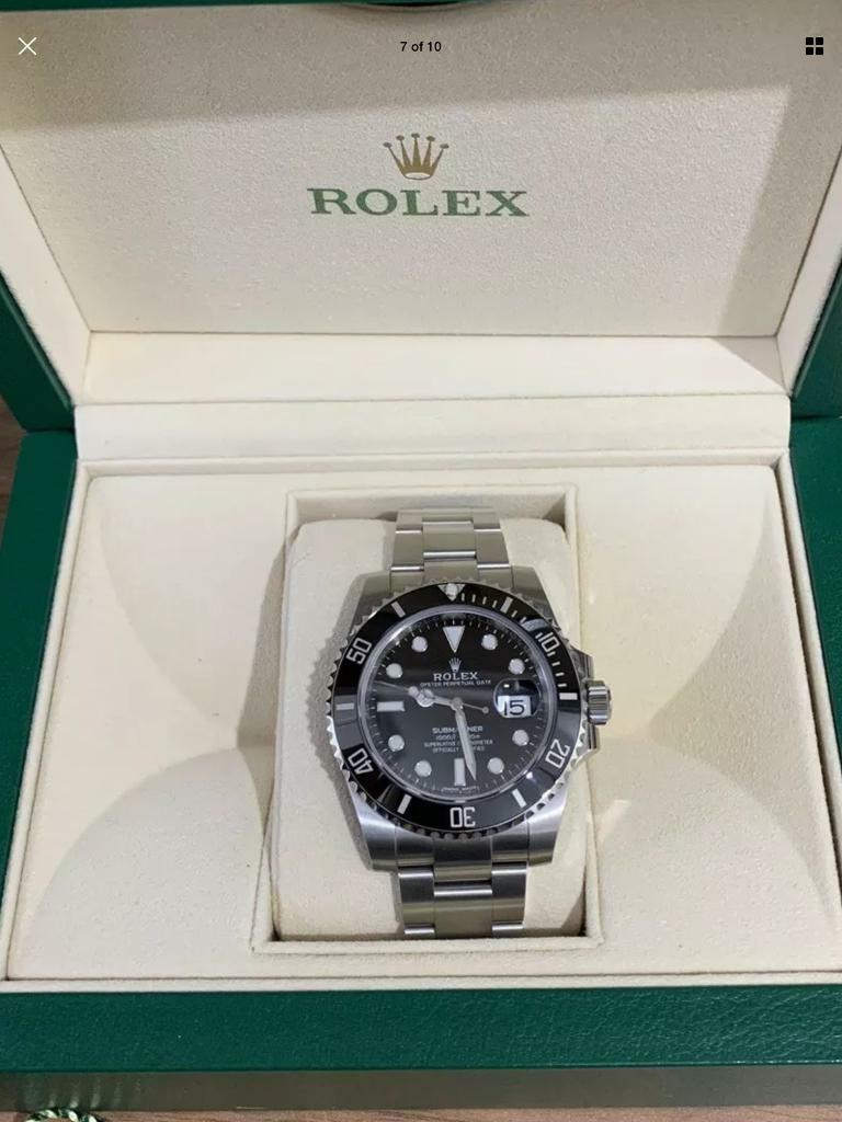 Rolex Submariner Ceramic Bezel Date 2018 Box Receipt Uk Watch