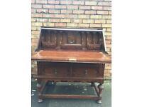 Antique stunning oak writing bureau