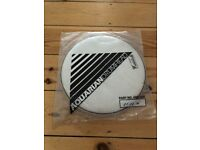 12 inch Aquarian Classic Clear coated Snare/Tom Drum Head Skin