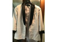 H&M stone and black blazer