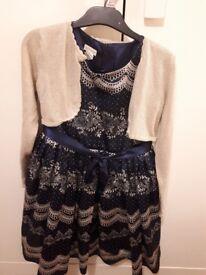Age 8 monsoon dress and cardigan